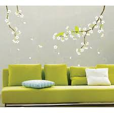 decorating wall art stickers to live the room pop art wall decorating captivating green birds on tree branch with falling flower for wall art stickers and