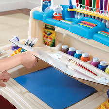 step 2 plastic train table kids accessories art table with stool and two easels for kids with