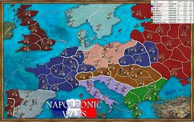 European Map Game by Napoleonic Wars Map