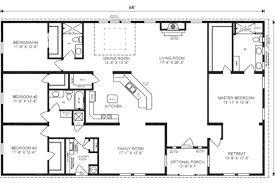 4 bedroom floor plans ranch 4 bedroom ranch house plans ipbworks com