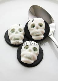 Halloween Cake Supplies Edible Halloween Cupcake Toppers 3d Skull Fondant Cake