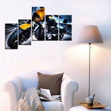 fashion motorcycle 3d oil painting on canvas wall art for bedroom