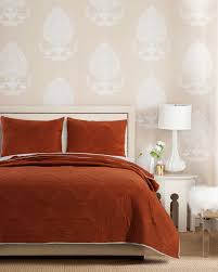 Solid Colored Comforters Cameo Rust Quilt Set Gl 1612gmst Solid Color Quilt Sets Bedding