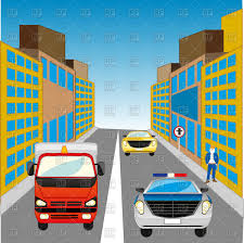 teal car clipart the street in big city and cars vector clipart image 137154