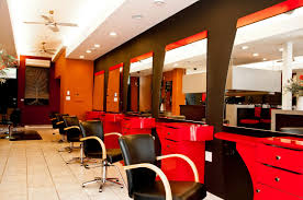 Home Hair Salon Decorating Ideas Cool Modern Hair Salons Red And Black Furniture Jpg 1286 854