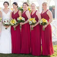 bridesmaid dresses burgundy burgundy bridesmaid dresses long
