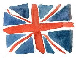 Englands Flag Watercolor England Flag U2014 Stock Photo Olies 83823626