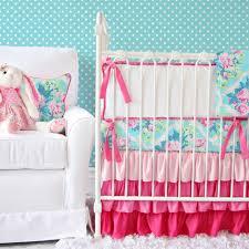 girls pink and purple bedding pink and aqua crib bedding u2013 the new girly u2013 caden lane