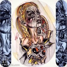norwegian black metal tattoos by tiolu