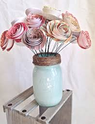 paper flower centerpieces paper flowers paper flower centerpiece rustic wedding