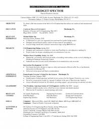 Project Engineer Resume Example by Cover Letter For Environmental Engineer Resume 5 Construction