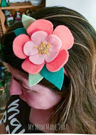 felt headbands moana felt flower headband my made that