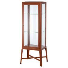 ikea fabrikor fabrikor glass door cabinet καστανοκόκκινο showcases ikea κύπρος