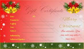 4 christmas gift certificate template outline templates