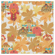 thanksgiving fabric zazzle