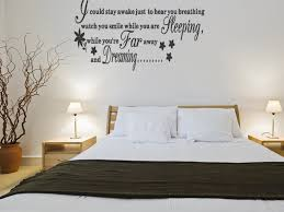 Romantic Home Decor Bedroom Decor Decorations Engaging Wall Decal Decorating Idea