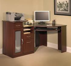 affordable simple wooden modern small corner computer desk that