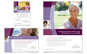 women u0027s health clinic flyer u0026 ad template design