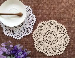 napperon de cuisine kawaii diy ronde dentelle coton table napperon tissu crochet