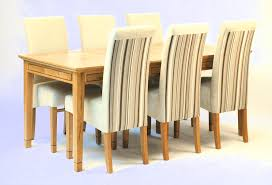 oak extending dining table u0026 6 chairs