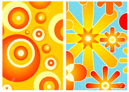 70s decor two wallpapers of 70s decor art royalty free cliparts vectors and