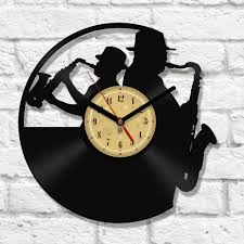 vinyl clock jazz clocks passion and record crafts