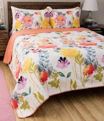 girls cotton bedding peach pink u0026 yellow floral girls bedding twin xl full queen king