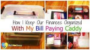 orginized how i keep our finances organized with my diy bill paying caddy