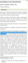 Vaccine Injury Table Eczema And Vaccine Shedding