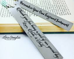 engraving items engraved bookmark etsy
