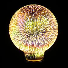 colorful fireworks 3d glass led night light decorative bulb