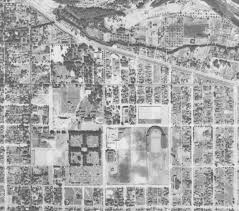 University Of Montana Campus Map by Aerial Photograph Collection Uo Libraries
