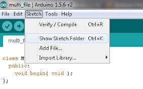 arduino faq breaking a sketch into multiple files