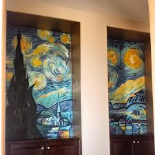 milica jelisavcic artist starry nights 5 x4 triptych mural 2015