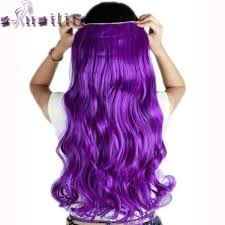purple hair extensions s noilite 24inches purple curly 3 4 clip in hair