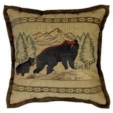 max studio home decorative pillow wildlife throws lodge blankets u0026 bear pillows