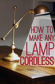 How To Make A Lamp Shade Chandelier Lamp Hack How To Make Any Lamp Cordless View Along The Way