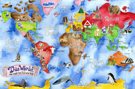 Chile World Map by Maps World Map Art