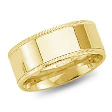 yellow gold wedding bands 8mm 14k yellow gold flat milgrain comfort fit wedding band