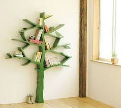 Wood Bookshelves Design by Wood Bookshelves Design With Tree Branch