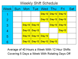 28 images of 12 hour shift schedules for 7 days a week template