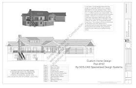 Hillside Home Plans by H187 Custom Country Hillside House Plans Construction Documents