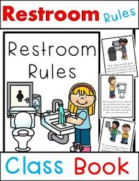restroom rules class book beginning of bathroom rules tpt