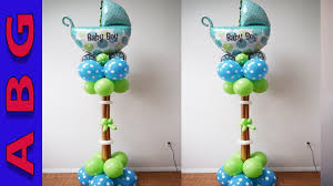 baby shower balloons baby shower balloon carriage decoration tutorial