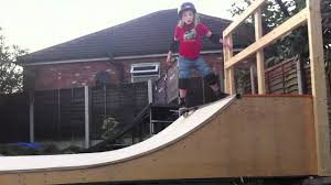jake on the backyard mini ramp youtube