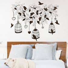 interior decoration cute little owl and trees wall painting ideas shop decorative bird tree on wanelo wall decal flowers birds in cage design decals bedr room