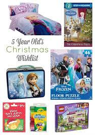 christmas wish list 5 year old