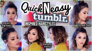 Simple N Easy Hairstyles by 3 Quick N U0027 Easy Inspired Hairstyles Makeupbyamarie Youtube