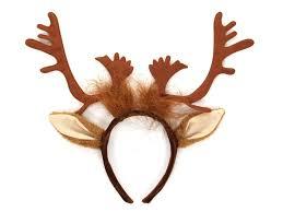 amazon com elope reindeer antlers headband clothing