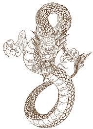 hand drawn chinese dragon tattoo design stock vector image 95064615